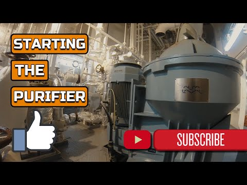 STARTING THE HEAVY FUEL OIL PURIFIER