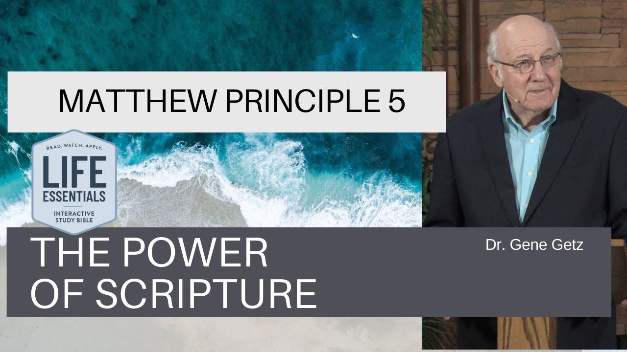 Download Matthew Principle 5: The Power of Scripture