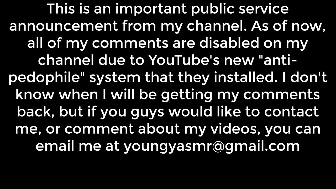 Important message about my channel