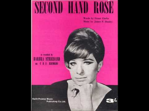Barbra streisand second hand rose youtube for Second hand schlafsofa
