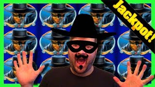 😳😳😳 RECKLESS BETTING LEADS TO JACKPOT HAND PAY! 😳😳😳BIG BETS on Zorro Slot Machine W/ SDGuy1234