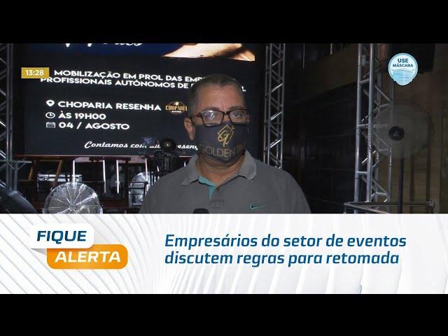 Empresários do setor de eventos discutem regras para retomada