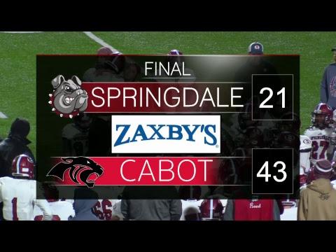 Springdale High School Football | State Playoffs | Springdale vs. Cabot