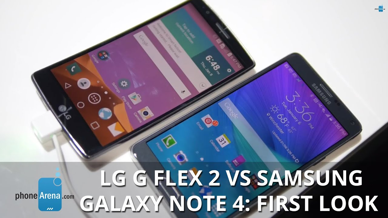 LG G Flex 2 vs Samsung Galaxy Note 4 first look