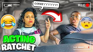 "ACTING ""RATCHET"" TO SEE HOW MY HUSBAND REACTS **HILARIOUS**"