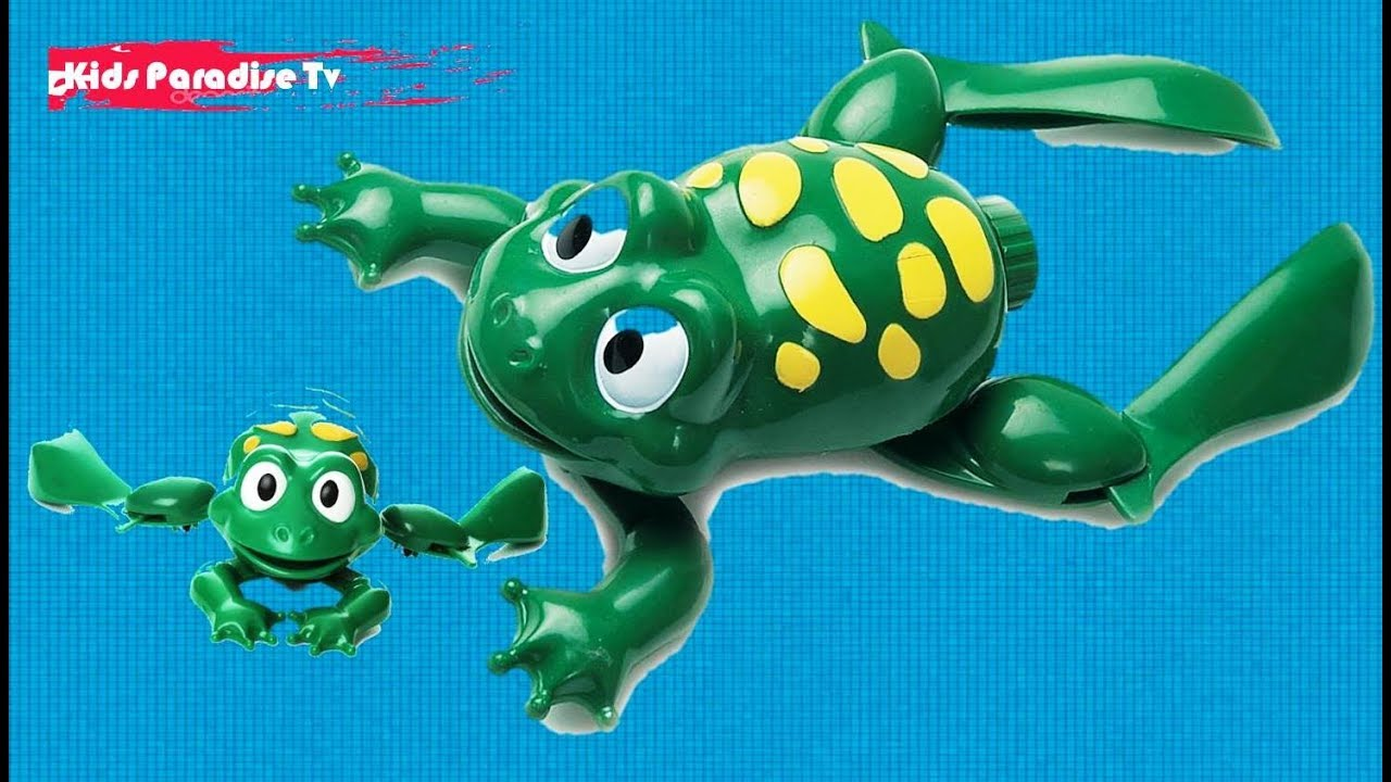 Hamleys Swimming Frog, Green Swimming Frog Bath Toy Tiny toy ...