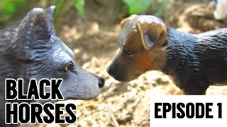 "Black Horses - E1 - ""The Warning"" (Schleich Dog/Wolf Movie)"