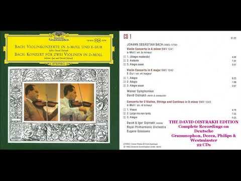 CD 1.  David & Igor Oistrakh  Violin Concertos BWV 1041, 1042, Double Concerto BWV 1043