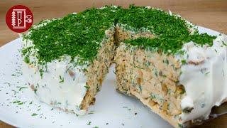 Торт из мясных блинов Вкуснейшая Закуска из Фарша