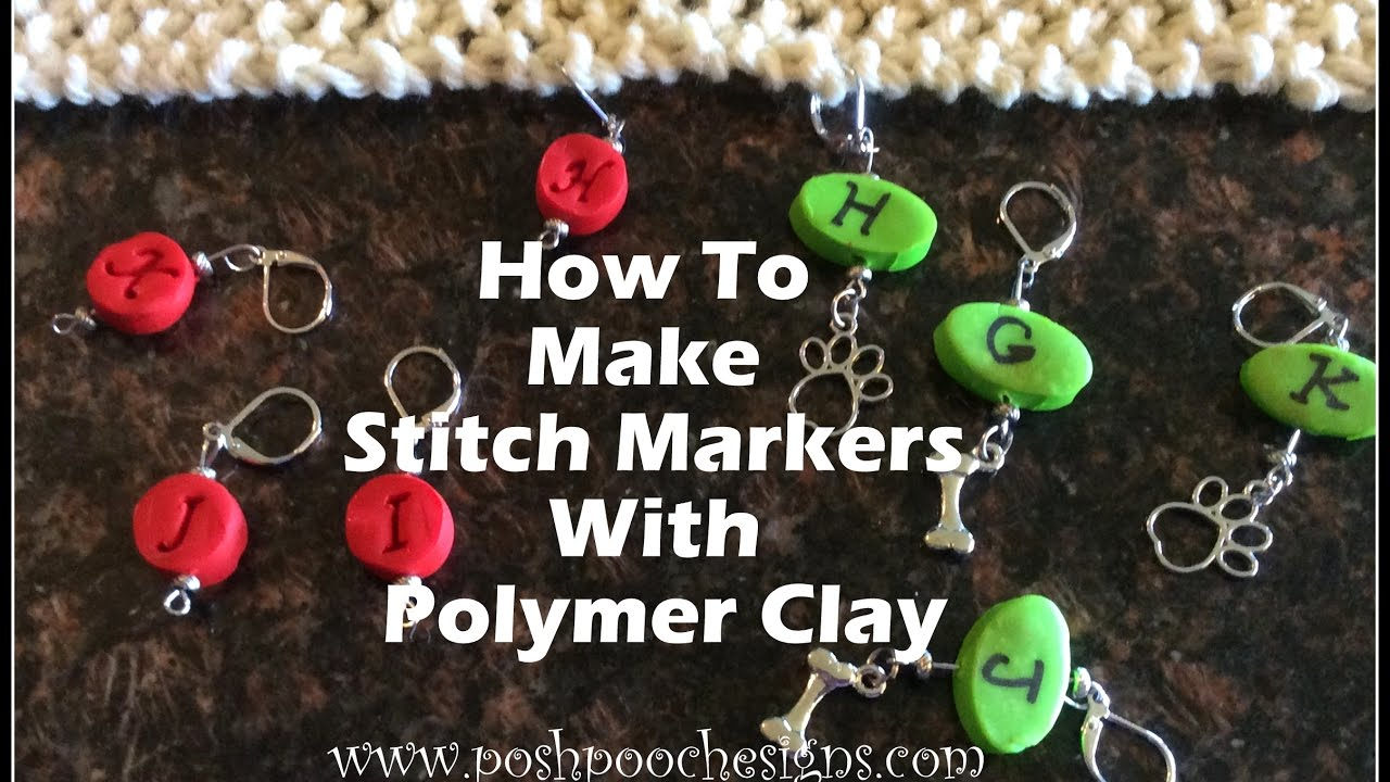 progress keepers Crochet Stitch Markers Clay stitch markers