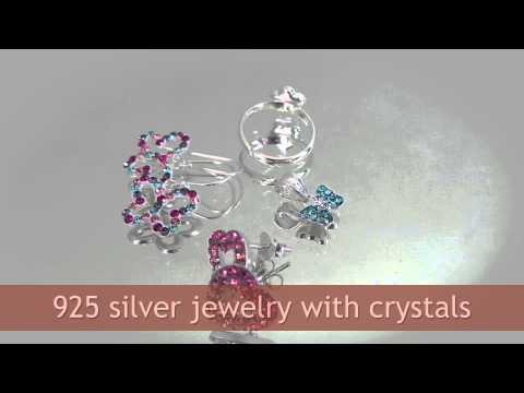 Crystal Silver Jewelry, Thailand. Wholesale directly from manufacturer.