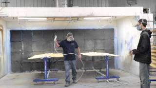 How You Can Spray Both Sides Of Plywood Using Fast Rack Equipment