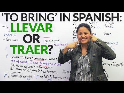 """To bring"" in Spanish: ""Llevar"" or ""Traer""?"