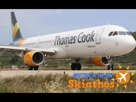 Skiathos - Plane Spotting In The Sun | Day 2 - Thomas Cook Wednesday | Crazy Jetblast + low landings