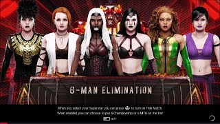 WWE 2K19 - Mortal Kombat - Battle Royal - MK Misc. Female Roster