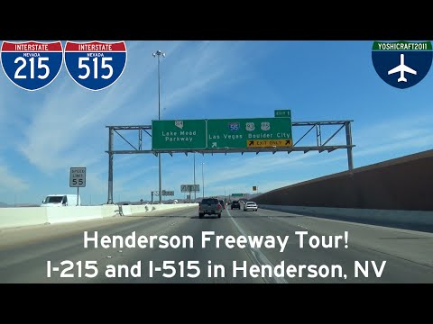 (2-14) Henderson Freeway Tour! I-215 and I-515 in Henderson, NV