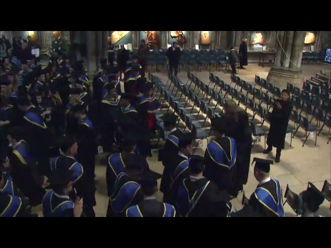 University of Lincoln January Graduation – 24 January 2018, 10:30am ceremony