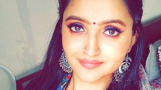 Gambar cover Navratri vlog  Makeup tutorial  Navratri makeup look book   How to apply false lashes  A.N ♥️