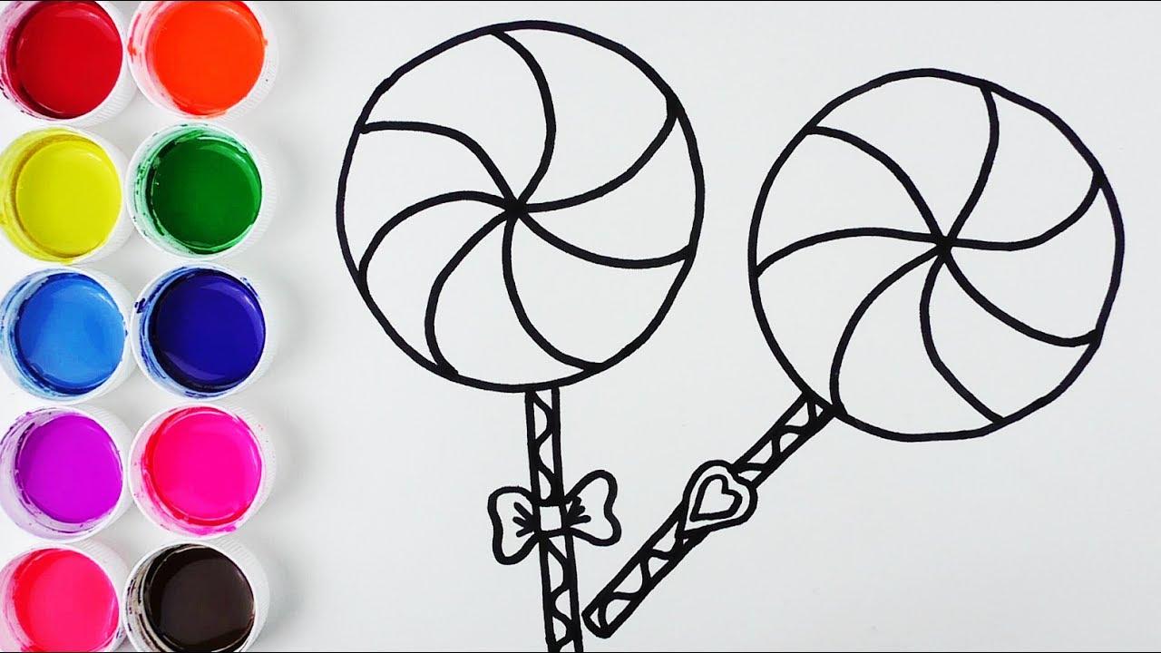 C mo dibujar y colorear paletas de arco iris learn - Colores para colorear ...
