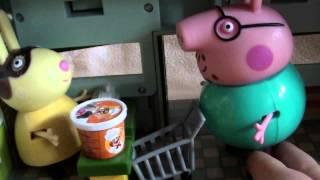 Мультфильм 🔴Peppa Pig🔴  Свинка Пеппа. Супермаркет Миссис Крольчихи и доставка товаров