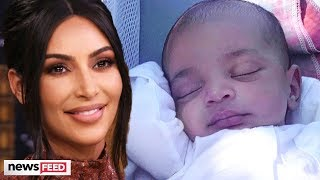 Kim Kardashian Uploads FIRST Picture Of Psalm And Looks Just Like Sister, Chicago!