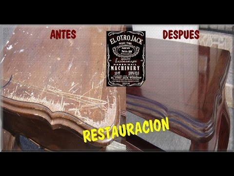 COMO RESTAURAR UNA MESA DE MADERA By JACK  YouTube