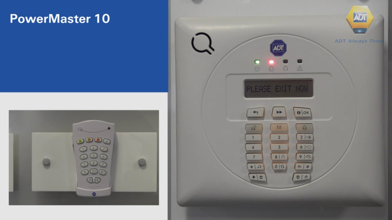 How to set your alarm using a code - PowerMaster 10 Panel - ADT UK