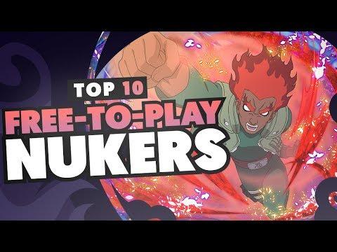 TOP 10 FREE TO PLAY NUKERS IN NARUTO SHIPPUDEN ULTIMATE NINJA BLAZING