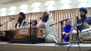 Veer Manpreet Singh Tuhi Tuhi, Amritvela Simran at Singh Sabha, Park Avenue Southall 9th Aug 2016