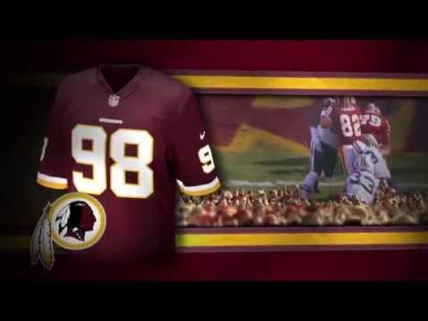 classic fit 9287e a76bc Washington Redskins uniform and uniform color history