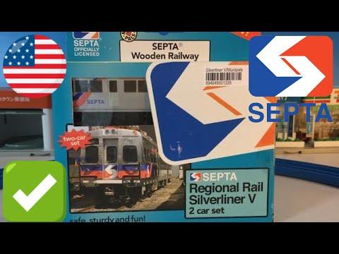 Unbox Septa Silverliner V Wooden Toy Train 02723 Youtube