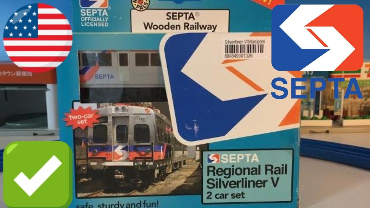 Unbox Septa Silverliner V Wooden Toy Train 02723
