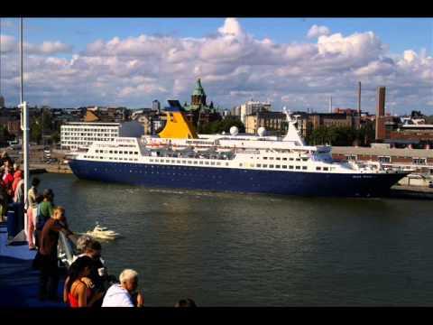 Helsinki photo-montage shot mainly from the MS Silja Symphony