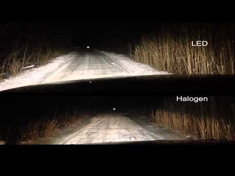 Cree Led Headlight ヘッドライト、フォグランプ点灯テスト H4 H8 T10 Lightin