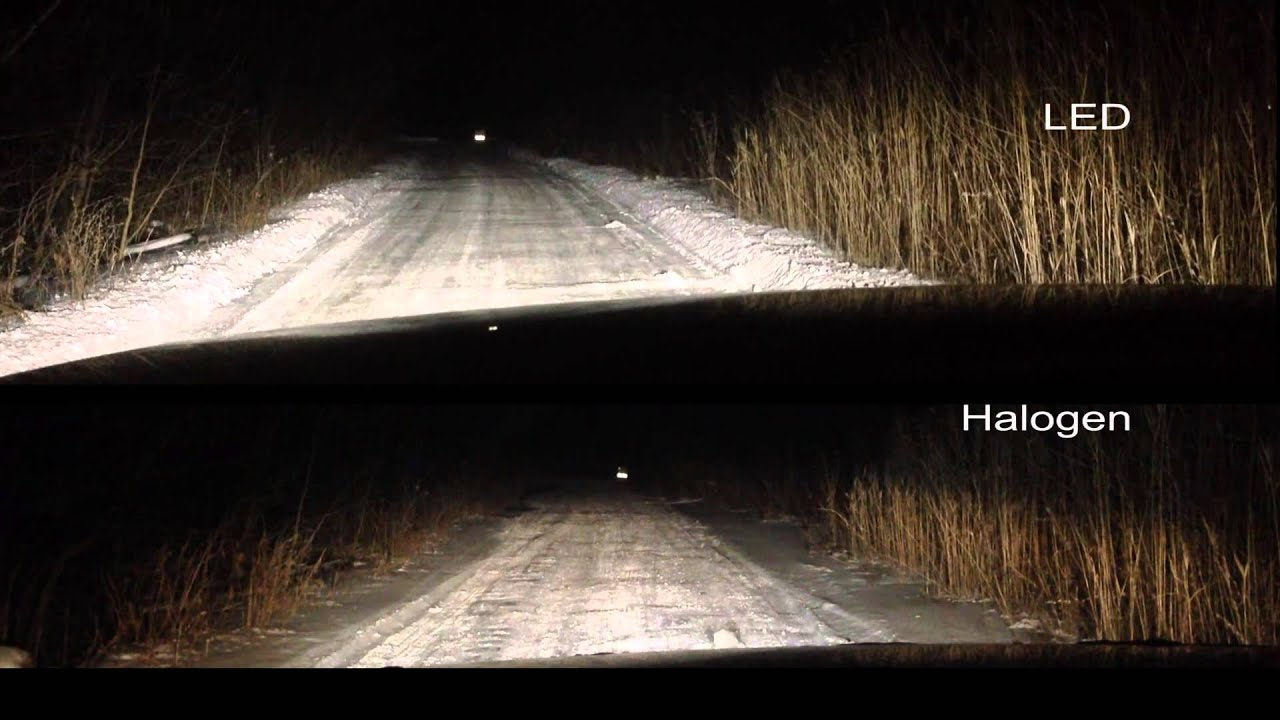 Lifetime Led Headlight Review Amp Halogen Comparison Youtube