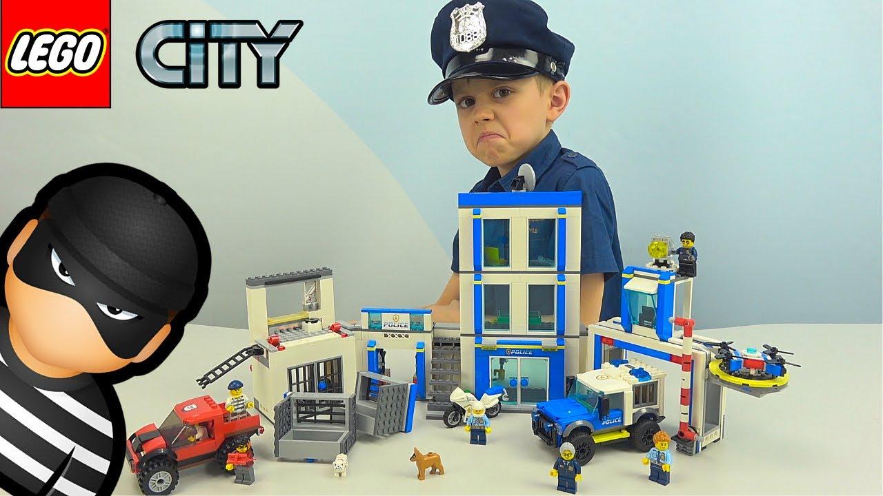 Полицейский Участок ЛЕГО СИТИ 60246 - Побег из тюрьмы бандита КРАКЕНА!