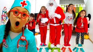 Kids And Dad Play With Santa Claus And Have Fun | Christmas Story Compilation By Chiki-Piki