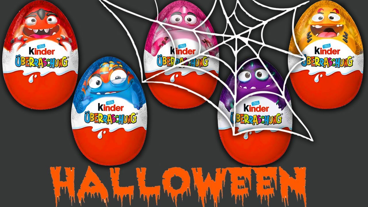 Kinder Surprise Eggs HALLOWEEN 2020 Mysterious Funny Monsters
