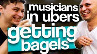 Musicians in Ubers Getting Bagels