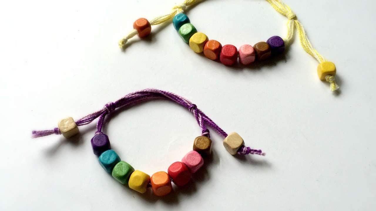 how to make sliding knot beaded friendship bracelet diy