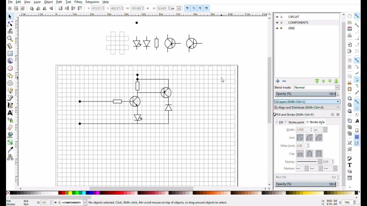 Inkscape Tutorial Create Schematic Diagram Editor Youtube Circuit