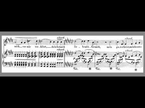 Schumann - Widmung High Ab Accompaniment with scrolling line