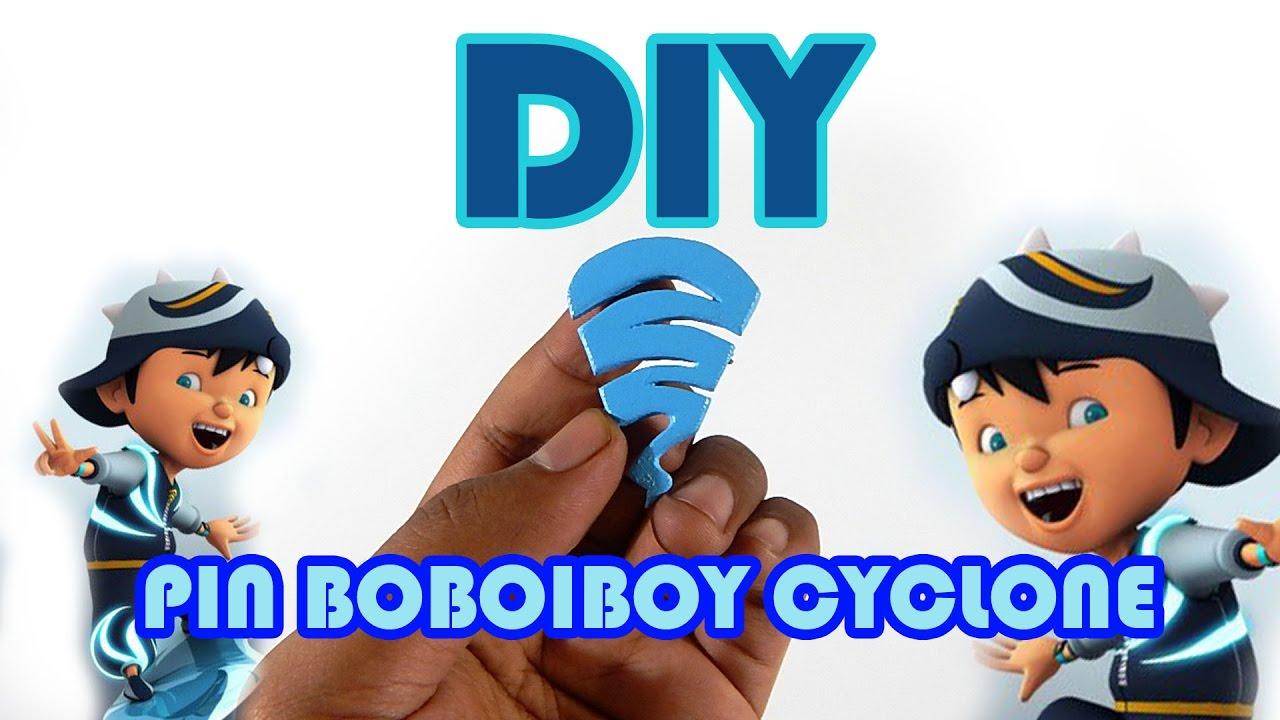 Cara Membuat Pin Lambang Kuasa Boboiboy Cyclone