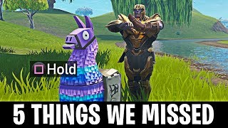 5 Things You Missed About Thanos in Fortnite Battle Royale! (THANOS SECRETS)