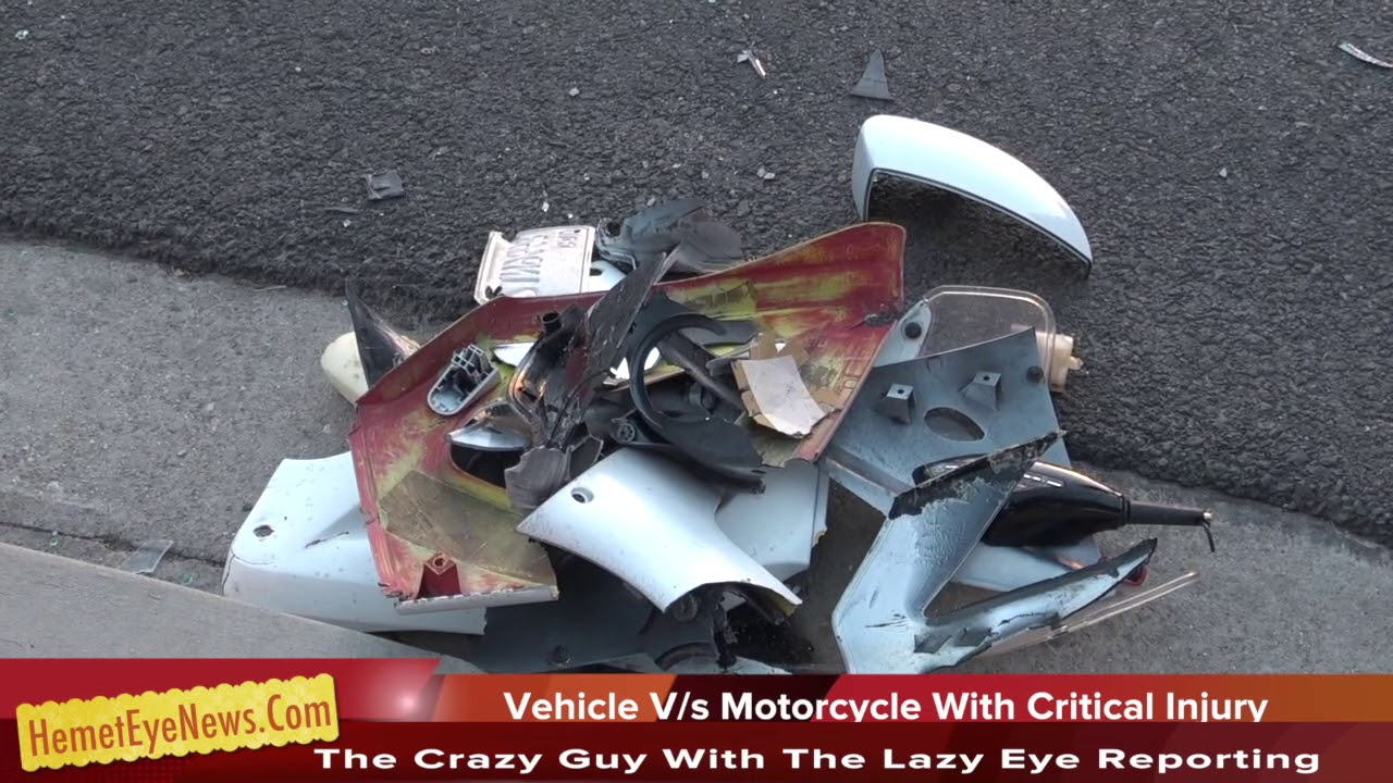 EAST HEMET - Car v:s Motorcycle with Critical Injury