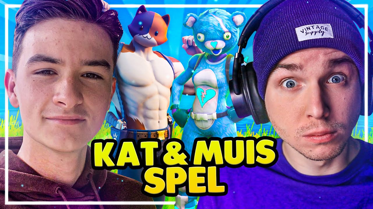 KAT EN MUIS SPEL IN FORTNITE! - met Maximus