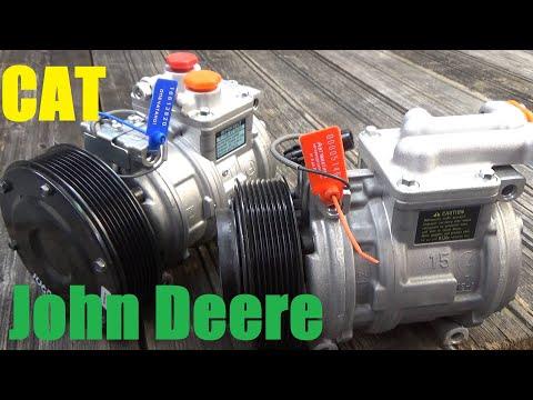 Компрессор кондиционера John Deere/Caterpillar/Claas-ремонт.    |    Caterpillar Compressor Repair.