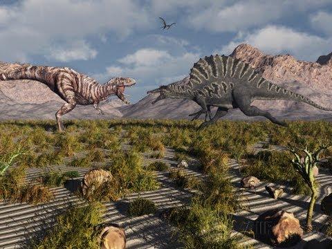 Spinosaurus vs Giganotosaurus - YouTube