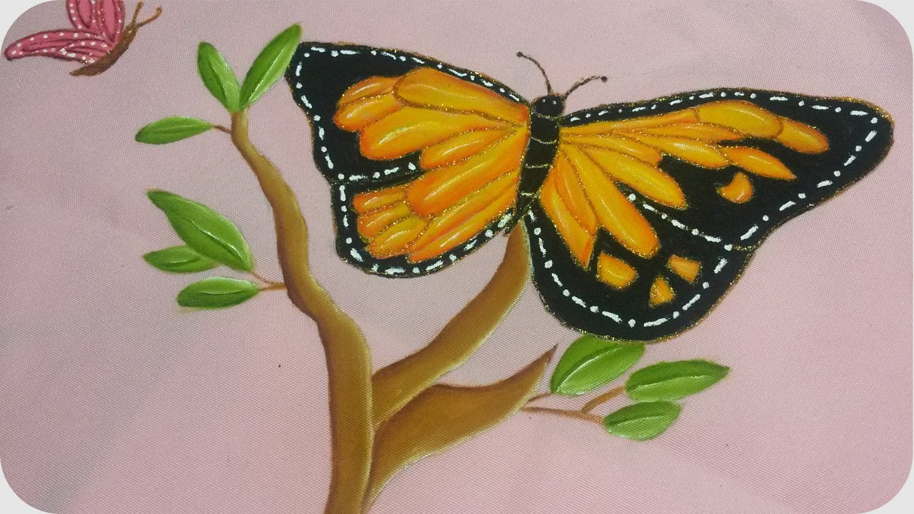 Mariposa Monarca Pintura Textil