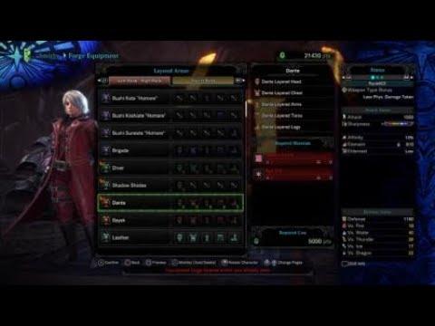Monster Hunter World: Iceborne_Dante Layered armor |